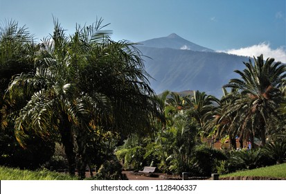 series of photographs of the volcano El Teide, in Tenerife, Canary Islands, Spain,