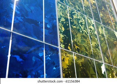Series of Photovoltaic Solar Panels for Electricity Production