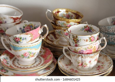 Series of Pretty Vintage Teacups