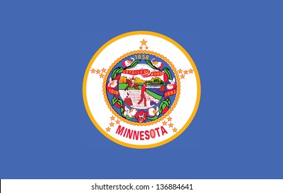 Series of the states flag in the US - Minnesota