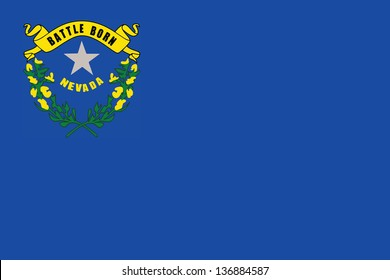 Series of the states flag in the US - Nevada