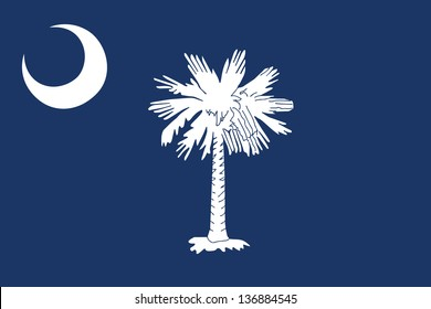 Series of the states flag in the US - South Carolina