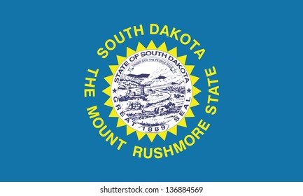 Series of the states flag in the US - South Dakota