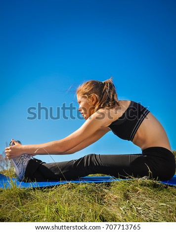 Series Stretching Exercises Before Run Stock Photo (Edit Now
