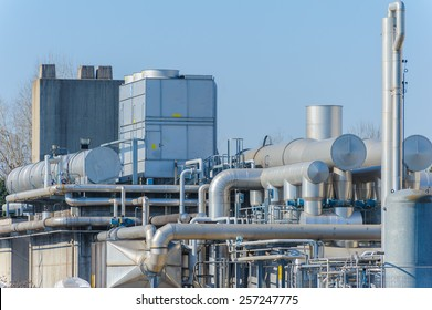 Series of tubes and containers of a chemical complex