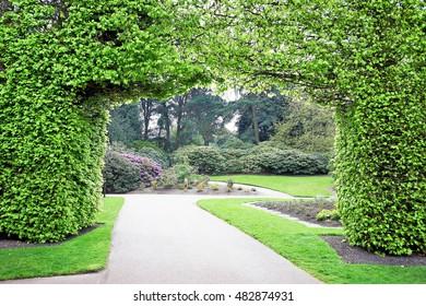Series of views, flowers and buildings of the Royal Botanic Garden Edinburgh, Scotland.