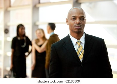 A serious African American business man