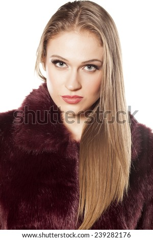 Opinion Beautiful blonde in fur coat something and