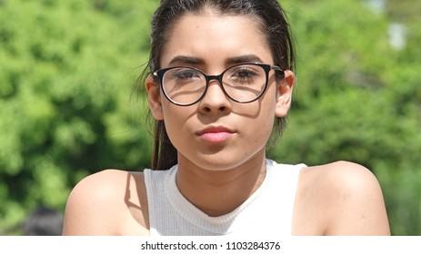 Serious Beautiful Female