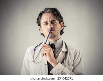 A serious doctor