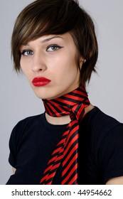 serious female