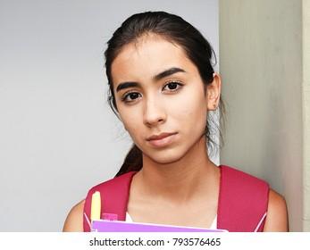 Serious Latina Female Student