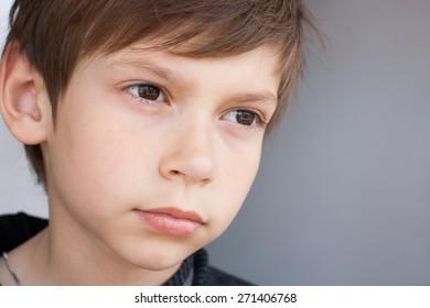 serious little boy