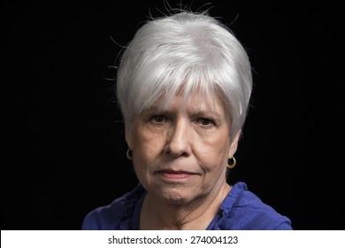 Serious portrait of a mature woman