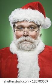 Serious Santa Claus Portrait