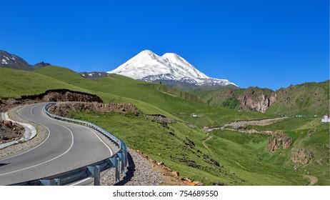 serpentine in the mountains of the Caucasus, the Elbrus region