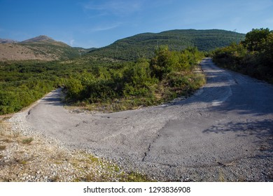 Serpentine on the road in Bosnia and Herzegovina