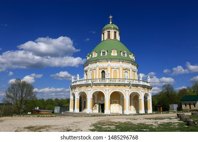 Serpukhov district, village Podmoklovo, Russia, May 5, 2019. Church of the Nativity of the Blessed Virgin on a sunny day