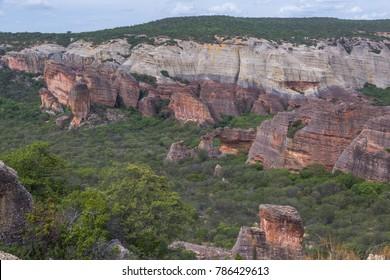 Serra da Capivara in Piaui/Brazil
