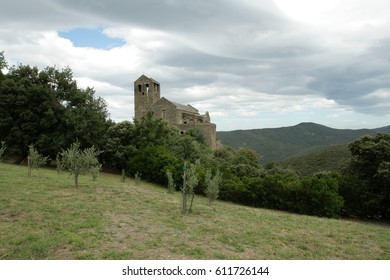 Serrabone Priory in Pyrenes orientales, France