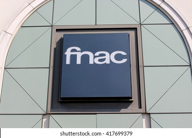 SERRIS; FRANCE - MAY 8,2016: Fnac is a French chain of stores specializing in the distribution of cultural and electronic products.