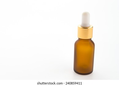 Serum bottle  isolated on white background