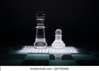 Servant of the king. Chess game.