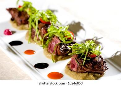 served gourmet food