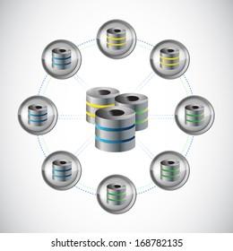 server network circle illustration design over a white background