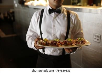 Server at the restaurant