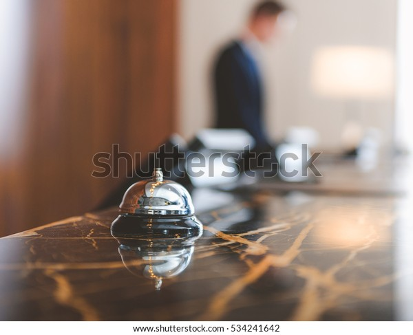 Service bell locating at reception