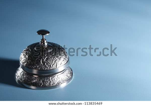 service bell on the blue back ground