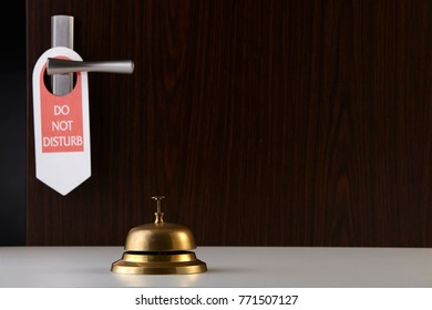 service bell on the hotel reception counter