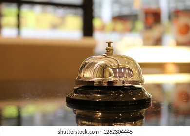 service bell vintage with bokehbackground