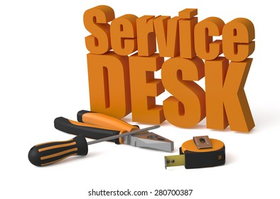 Service Desk service and repair concept