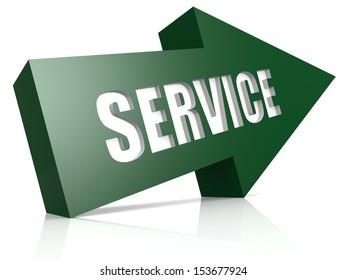 Service green blue arrow