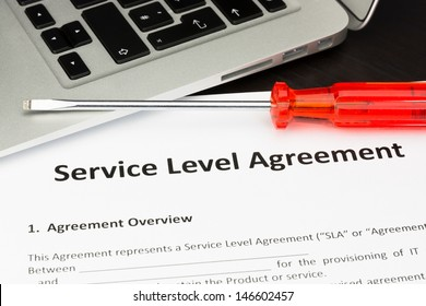 Service Level Agreement Contract with Screwdriver