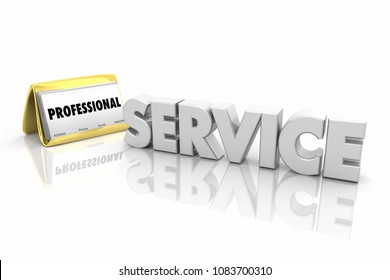 Service Professional Business Card Contractor Word 3d Render Illustration