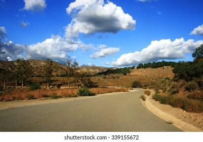Service road at Orchard Hills, Irvine, CA