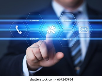 Service Technical Support Solution Business Technology Internet Concept