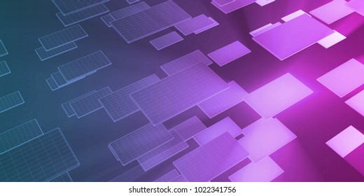 IT Services or Information Technology Solutions as Art 3D Render
