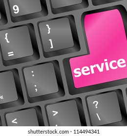 Services keyboard button - business concept. raster