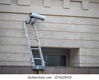 Servicing a CCTV  used for surveillance and crime prevention