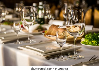 Serving banquet table