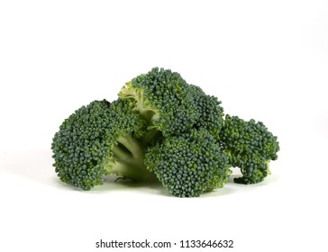 Serving of Broccoli Isolated on White Background