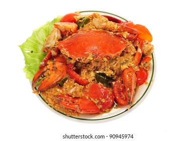 Serving of Chili Crabs
