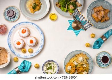 Serving to Hanukkah, Star of David, Hanukkah Minor frame
