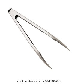 serving kitchen tongs isolated on a white - Kitchen Tongs