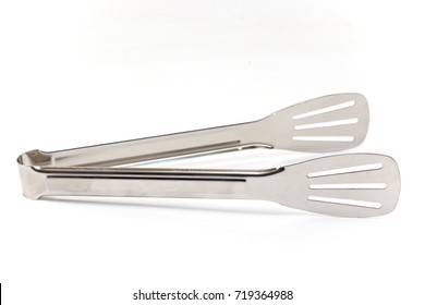 serving kitchen tongs isolated on white background - Kitchen Tongs