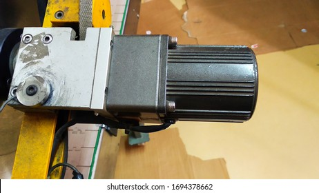 The servo drive motor on the machine its constant movement.